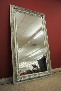Grosser Spiegel Wandspiegel Farbe Shiny Silber mit Facettenschliff 120 x 200 cm