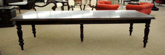 Massivholz Tisch Esstisch Mahagoni Louis Stil Länge 330 cm Premium Qualität - Vorschau 2