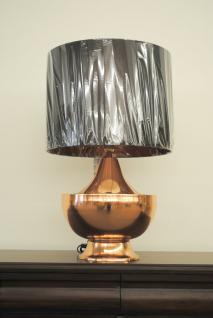 Stylishe Lampe Leuchte Tischleuchte Tischlampe Höhe 80 cm Schirm schwarz rotgold