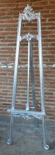 Stylishe Staffelei Mahagoni Farbe Shiny Silber