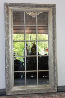 Grosser Spiegel Wandspiegel Farbe Shiny Silber mit Facettenschliff 82 x 142, 5 cm