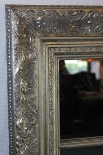 Grosser Spiegel Wandspiegel Farbe Shiny Silber mit Facettenschliff 82 x 142, 5 cm - Vorschau 3