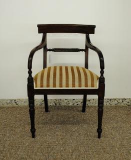 Wunderschöner Stuhl massiv Mahagoni Kolonialstil Farbe Holz brown Walnuss