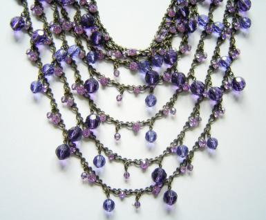 KONPLOTT Choker / Pool-Side Story purple multi / antique bronce - Vorschau 2