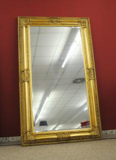 Grosser Spiegel Wandspiegel Farbe Gold mit Facettenschliff 120 x 200 cm