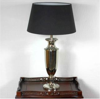 Grosse stylishe Lampe Leuchte Tischleuchte Tischlampe Chrom / Black Höhe 81 cm - Vorschau 1