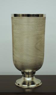 Standvase Vase Übertopf Aluminium gehämmert Farbe Silber