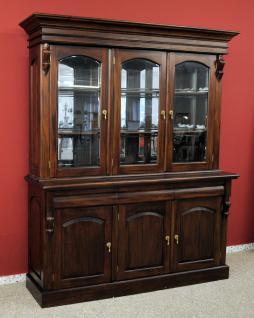 Buffet Schrank Mahagoni massiv Victorianischer Stil - Vorschau 1