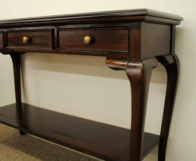 Englische Konsole Mahagoni Farbe brown Walnuss Warehouse Living - Vorschau 2