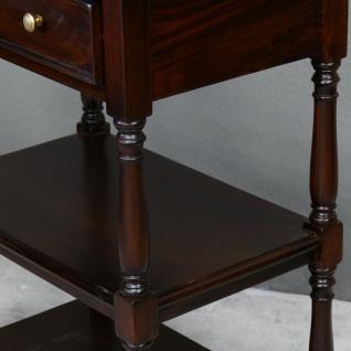 Englische Konsole aus massivem Mahagoni NEU Handarbeit Farbe brown Walnuß - Vorschau 3