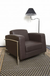 Leder Sessel / Designer Sessel Lounge Office Verona Leather