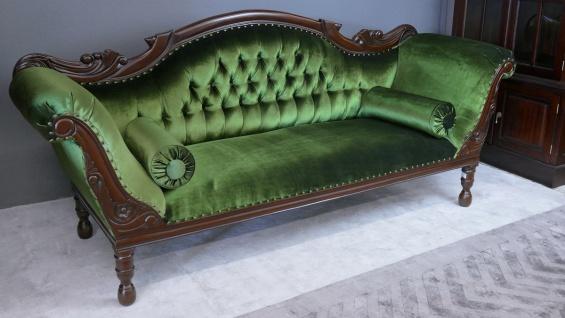 Wunderschöne Recamiere Ottomane Couch Mahagoni