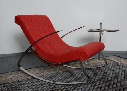 Schaukelstuhl Lounge Liege Sofa Design Klassiker Couch Farbe : Rot