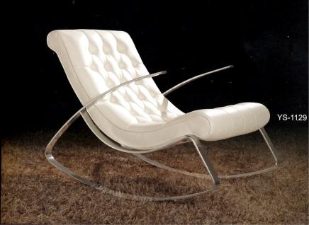Schaukelstuhl Lounge Liege Sofa Design Klassiker Couch Farbe : Weiss