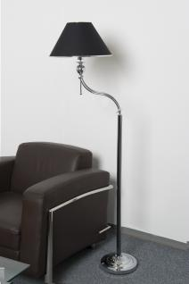 Designer Stehlampe Leuchte Chrom / Black Höhe 170 cm stylishes Design