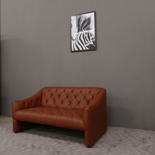 """Leder Couch / Designer Couch 2-Sitzer italy Leather Farbe cognac"""""""