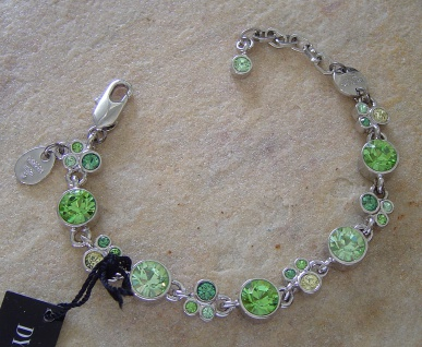 Dyrberg Kern Armband DIANNE Silver / Light Green Swarovski Elements
