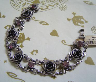KONPLOTT Armband Rose Water light rosé / antique silver