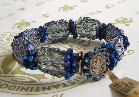 KONPLOTT Armband Ice Cocoon light blue multi / antique silver