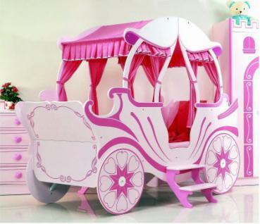 Bett Kutsche pink Kinderbett Mädchen und Prinzessin