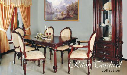 6 Stühle Mahagoni Riton 4 ohne 2 mit Armlehne - Vorschau 1