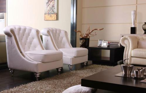Exclusiver Leder Sessel / Designer Lounge Sessel italienisches Leder - Vorschau