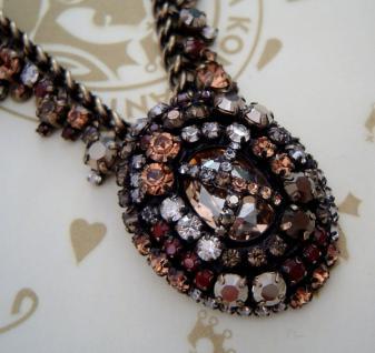 KONPLOTT Kette / Collier Las Vegas beige crystal / antique bronce - Vorschau 2