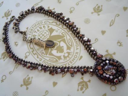 KONPLOTT Kette / Collier Las Vegas beige crystal / antique bronce - Vorschau 1