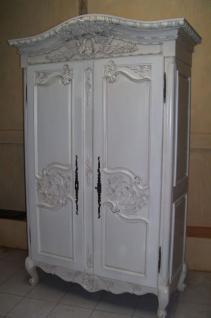 Kleiderschrank Hochzeitsschrank antik white Mahagoni massiv ein Traum