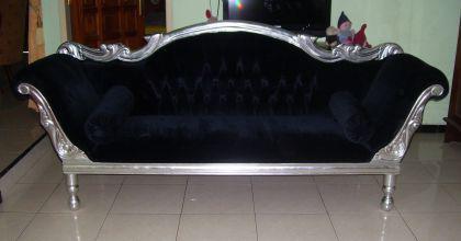 Wunderschöne Couch Recamiere Ottomane Mahagoni - Vorschau