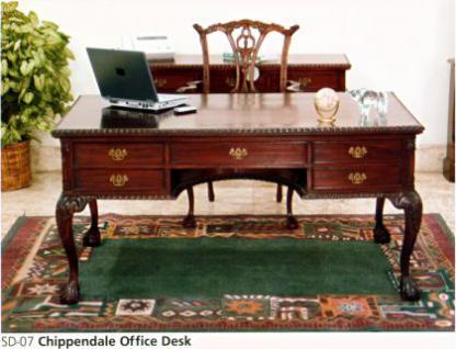 Chippendale Schreibtisch Sekretär Mahagoni Premium Qualität - Vorschau 2