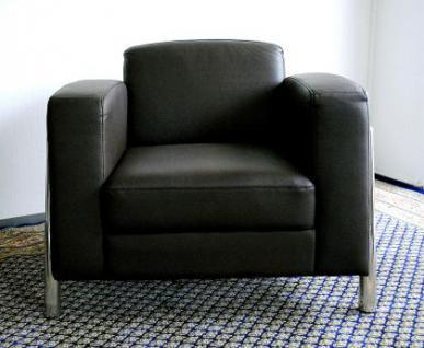 Leder Sessel / Designer Sessel Lounge Office Verona Leather - Vorschau 2