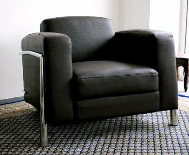 Leder Designer Lounge Couch Office Couchgarnitur 1er und 2er Verona Leather - Vorschau 2