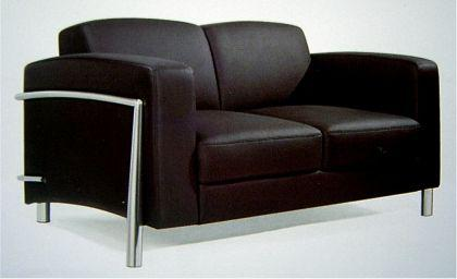 Leder Couch / Designer Lounge Office Couch 2er Verona Leather