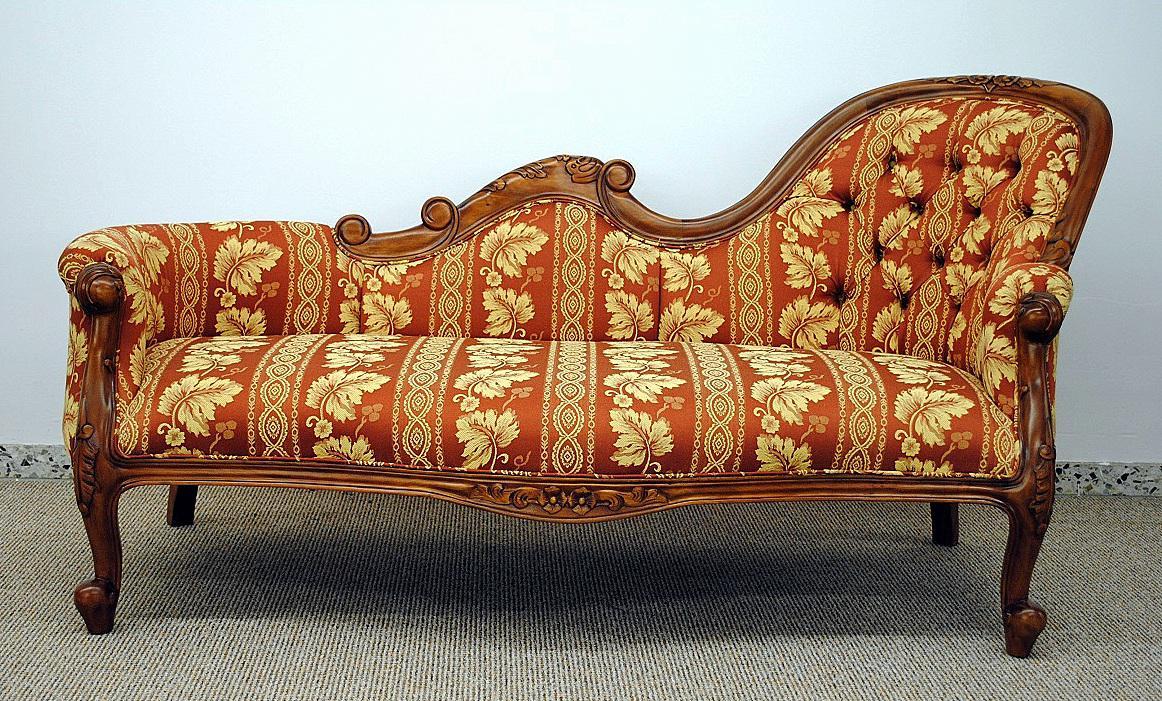 Faszinierend Ottomane Recamiere Beste Wahl Edle Im Antikdesign Neu Aus Massiv Mahagoni