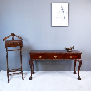 Englischer Chippendale Schreibtisch Konsole Mahagoni