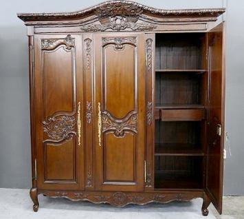 Kleiderschrank brown Walnuss Mahagoni massiv ein Traum 3 Türen - Vorschau 2
