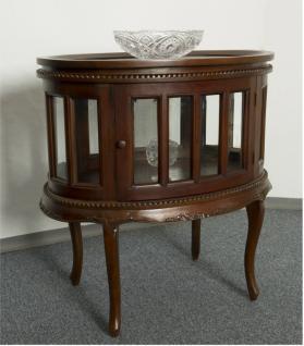 Teetisch Tisch mit Tablett auch als Hausbar Mahagoni Farbe dunkelbraun Walnuss