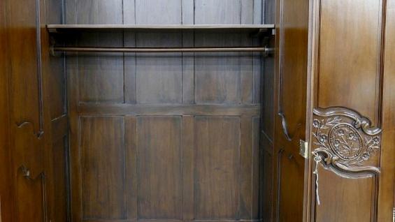 Kleiderschrank brown Walnuss Mahagoni massiv ein Traum 3 Türen - Vorschau 3