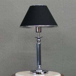 stylishe Lampe Leuchte Tischleuchte Tischlampe Chrom Black Höhe ca. 52 cm