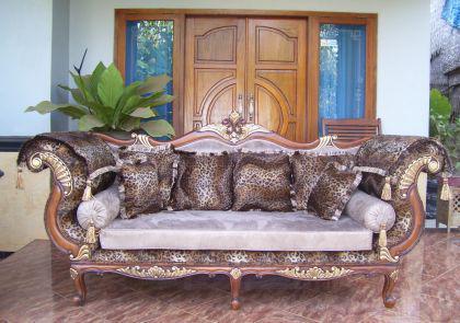 """Wunderschönes Sofa Couch Recamiere Ottomane Mahagoni """"Hunter"""" - Vorschau"""