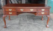 Englischer Chippendale Schreibtisch Mahagoni