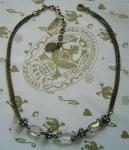 KONPLOTT Kette / Collier Eye of the Cobra crystal / antique bronce