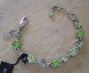 Dyrberg Kern Armband DIANNE Silver / Light Green Swarovski Elements