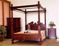Wunderschönes Bett Chippendale Kolonialstil Mahagoni