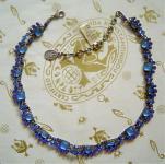 KONPLOTT Kette Josephine Baker blue antique silver