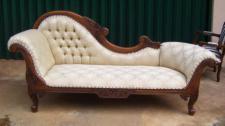 Ottomane Couch Recamiere Mahagoni