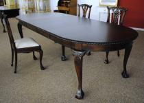 Chippendale Tisch Esstisch Mahagoni verstellbar 300 cm