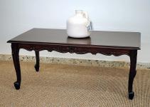 Chippendale Tisch Couchtisch Mahagoni brown Walnuss