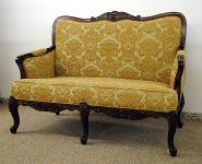 Französisches Sofa Couch 2-Sitzer Mahagoni
